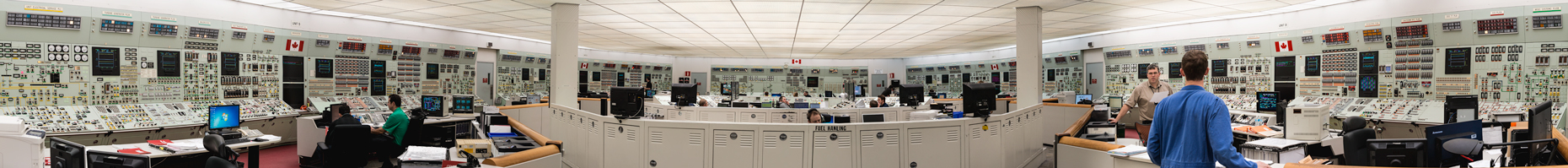 Industrial Interior of the Control-Room-Bruce Power, Kincardine Ontario