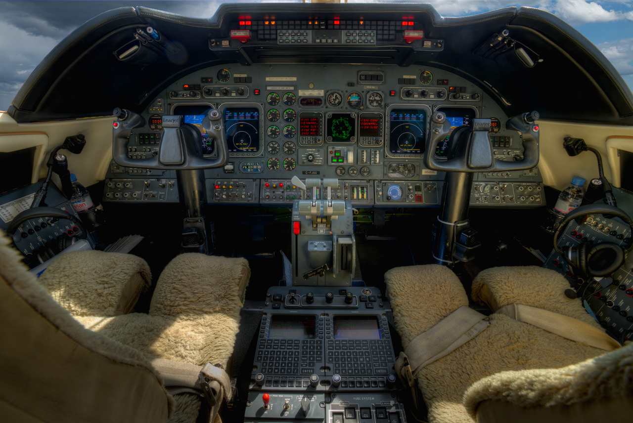 Industrial Interior of a Lear Jet 60, Toronto