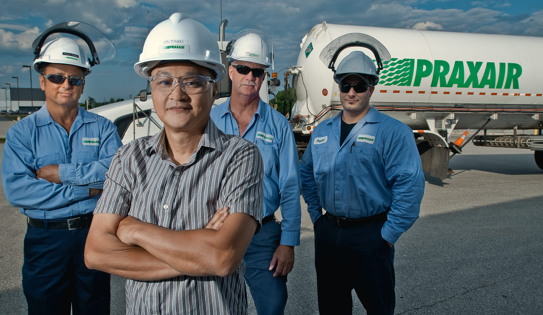 Industrial Portrait of Richard Tam and crew